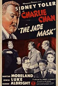 Henry Hall, Edwin Luke, Mantan Moreland, Janet Warren, Frank Reicher, and Sidney Toler in The Jade Mask (1945)