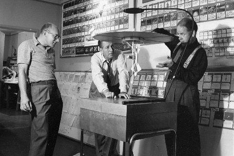Walt Disney and Ward Kimball in Disneyland (1954)