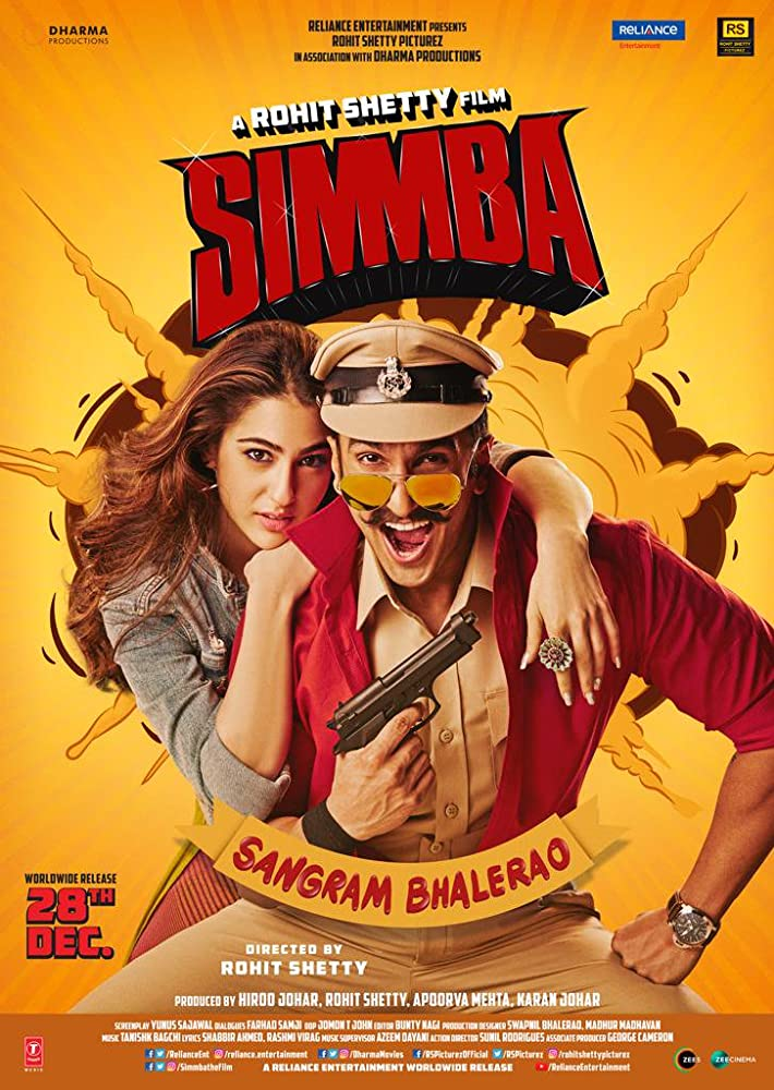 Simmba (2018) 720p Bluray Free Movies Download & Online Watch