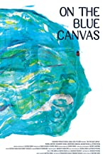 On the blue canvas