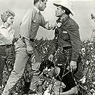 Don Burnett, Eddie Cochran, Yvonne Lime, and Lori Nelson in Untamed Youth (1957)