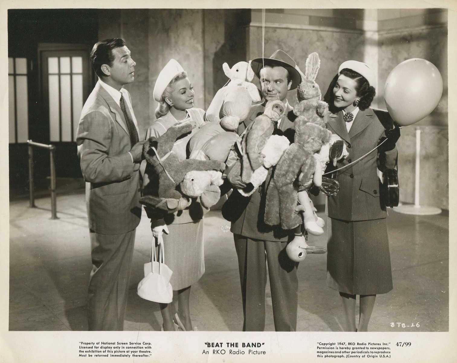 June Clayworth, Ralph Edwards, Frances Langford, and Phillip Terry in Beat the Band (1947)