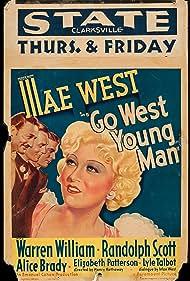 Randolph Scott, Lyle Talbot, Mae West, and Warren William in Go West Young Man (1936)
