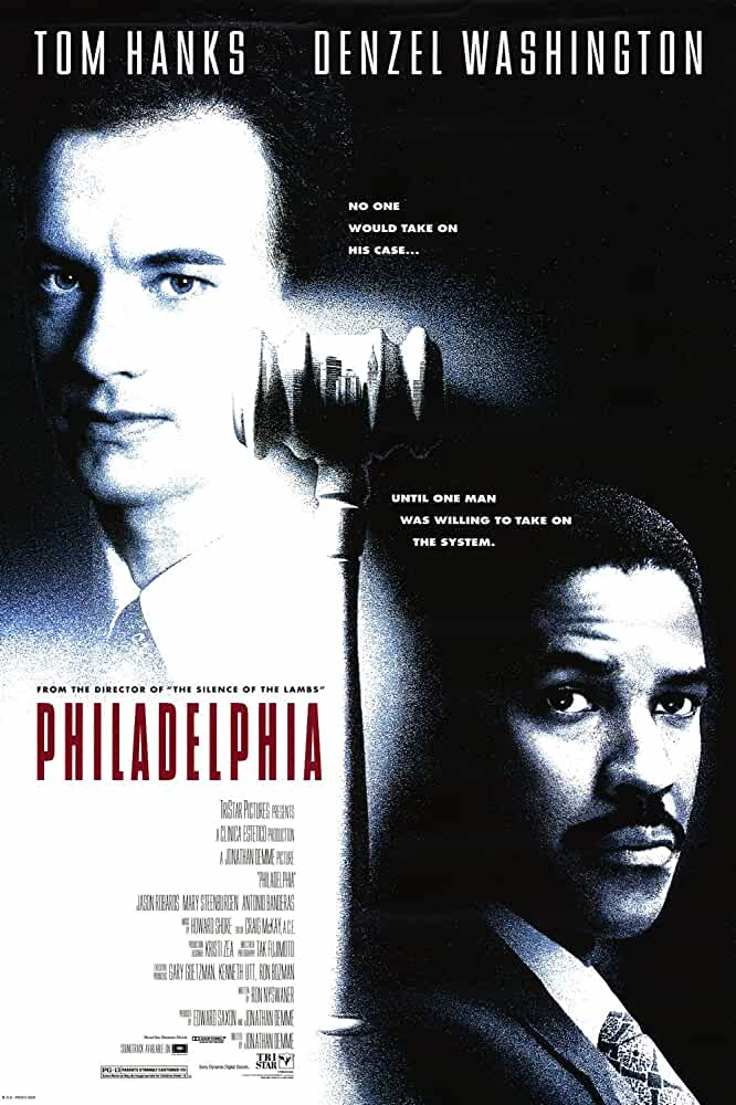 Tom Hanks and Denzel Washington in Philadelphia (1993)