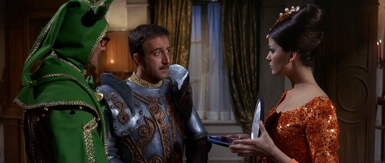 Peter Sellers, Claudia Cardinale, and Colin Gordon in The Pink Panther (1963)