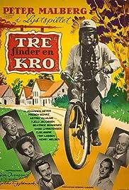 Tre finder en kro Poster