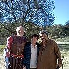 William Leon on the set of Don Quixote with Luis Guzman and Carmen Argenziano