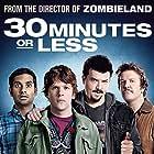 Jesse Eisenberg, Nick Swardson, Danny McBride, and Aziz Ansari in 30 Minutes or Less (2011)