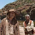 David Wenham and Ahmed Malek in The Furnace (2020)