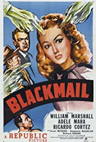 Ricardo Cortez, Adele Mara, William Marshall, and Grant Withers in Blackmail (1947)