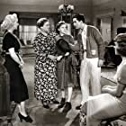 Judy Garland, Betty Grable, Johnny Downs, Dixie Dunbar, and Emma Dunn in Pigskin Parade (1936)