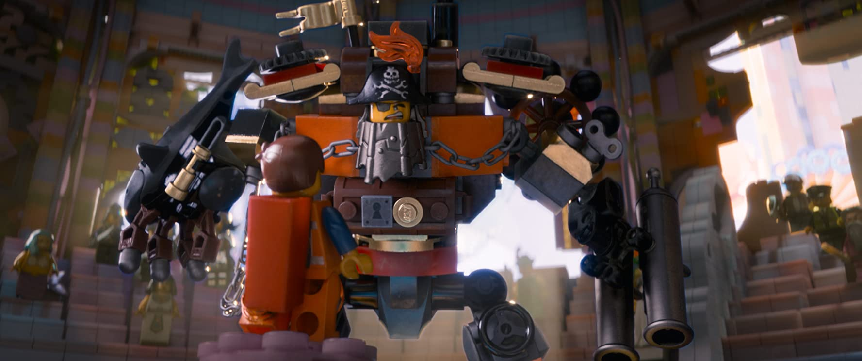 Nick Offerman and Chris Pratt in The Lego Movie (2014)
