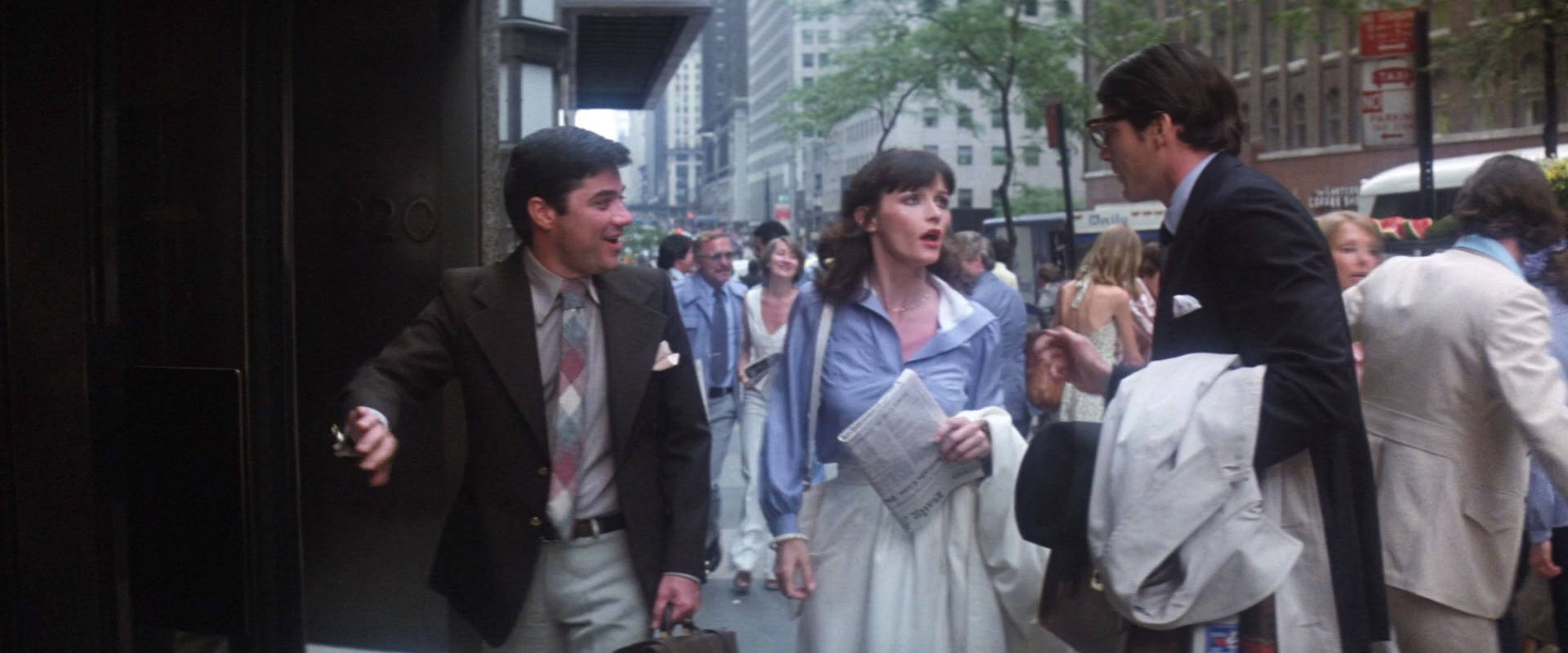 Christopher Reeve, Margot Kidder, and Rex Reed in Superman (1978)