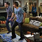 Jon Cryer, Ashton Kutcher, Angus T. Jones, and Sophie Winkleman in Two and a Half Men (2003)