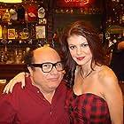 "Danny DeVito and Marlene Mc'Cohen on the set of ""It's Always Sunny in Philadelphia"""