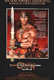 Arnold Schwarzenegger, Grace Jones, Wilt Chamberlain, and Sarah Douglas in Conan the Destroyer (1984)