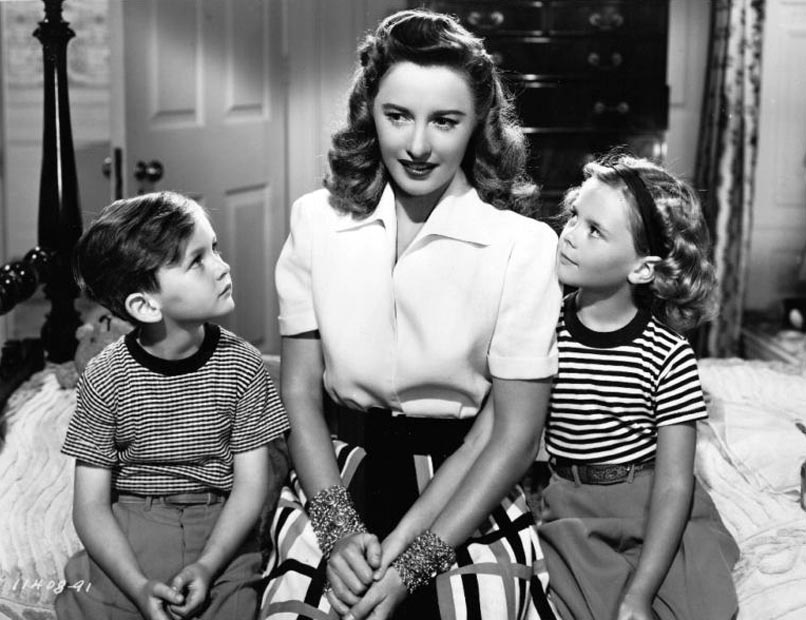 Natalie Wood, Barbara Stanwyck, and Gregory Marshall in The Bride Wore Boots (1946)
