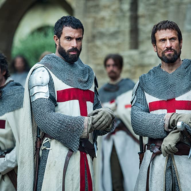 Simon Merrells and Tom Cullen in Knightfall (2017)