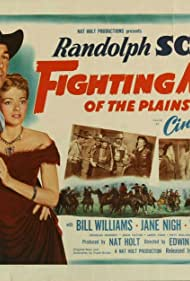 Randolph Scott, Victor Jory, Barry Kelley, Jane Nigh, and Bill Williams in Fighting Man of the Plains (1949)