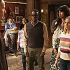 Kristen Bell, Jude S. Walko, Marc Evan Jackson, Tiya Sircar, William Jackson Harper, and Jameela Jamil in The Good Place (2016)