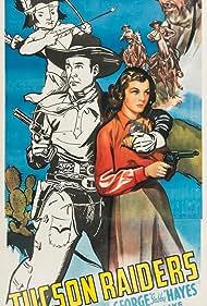 Robert Blake, Bill Elliott, George 'Gabby' Hayes, and Peggy Stewart in Tucson Raiders (1944)