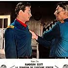 Randolph Scott and Lex Barker in Thunder Over the Plains (1953)