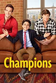 Anders Holm, Andy Favreau, and Josie Totah in Champions (2018)