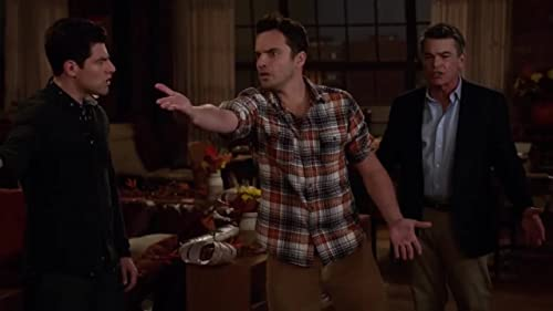 New Girl: Nick Throws The Turkey At The Wall
