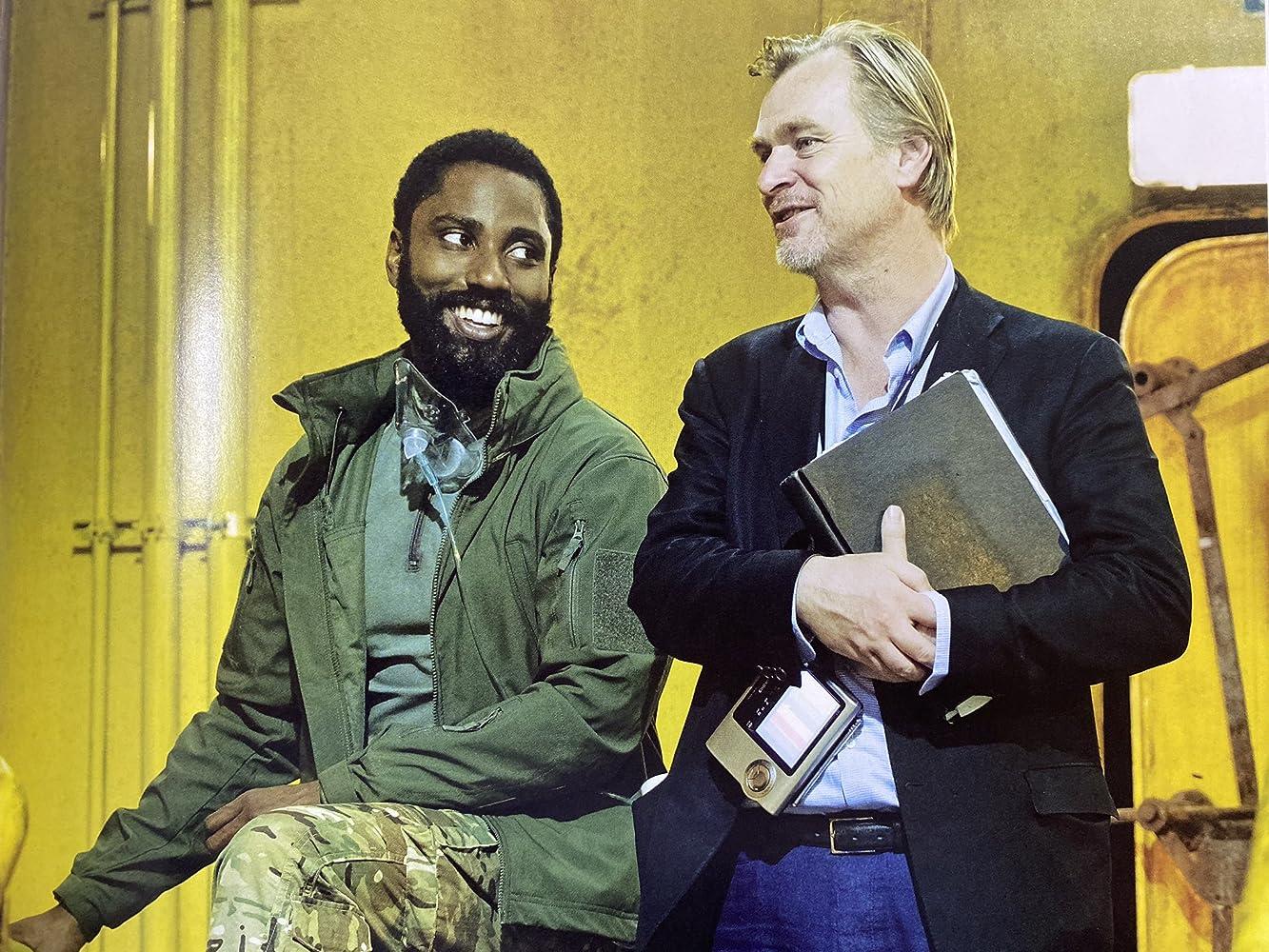Christopher Nolan and John David Washington in Tenet (2020)