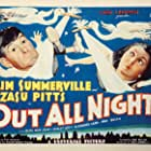 Zasu Pitts and Slim Summerville in Out All Night (1933)