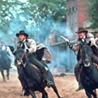 Robert Carradine, James Keach, and Stacy Keach in The Long Riders (1980)