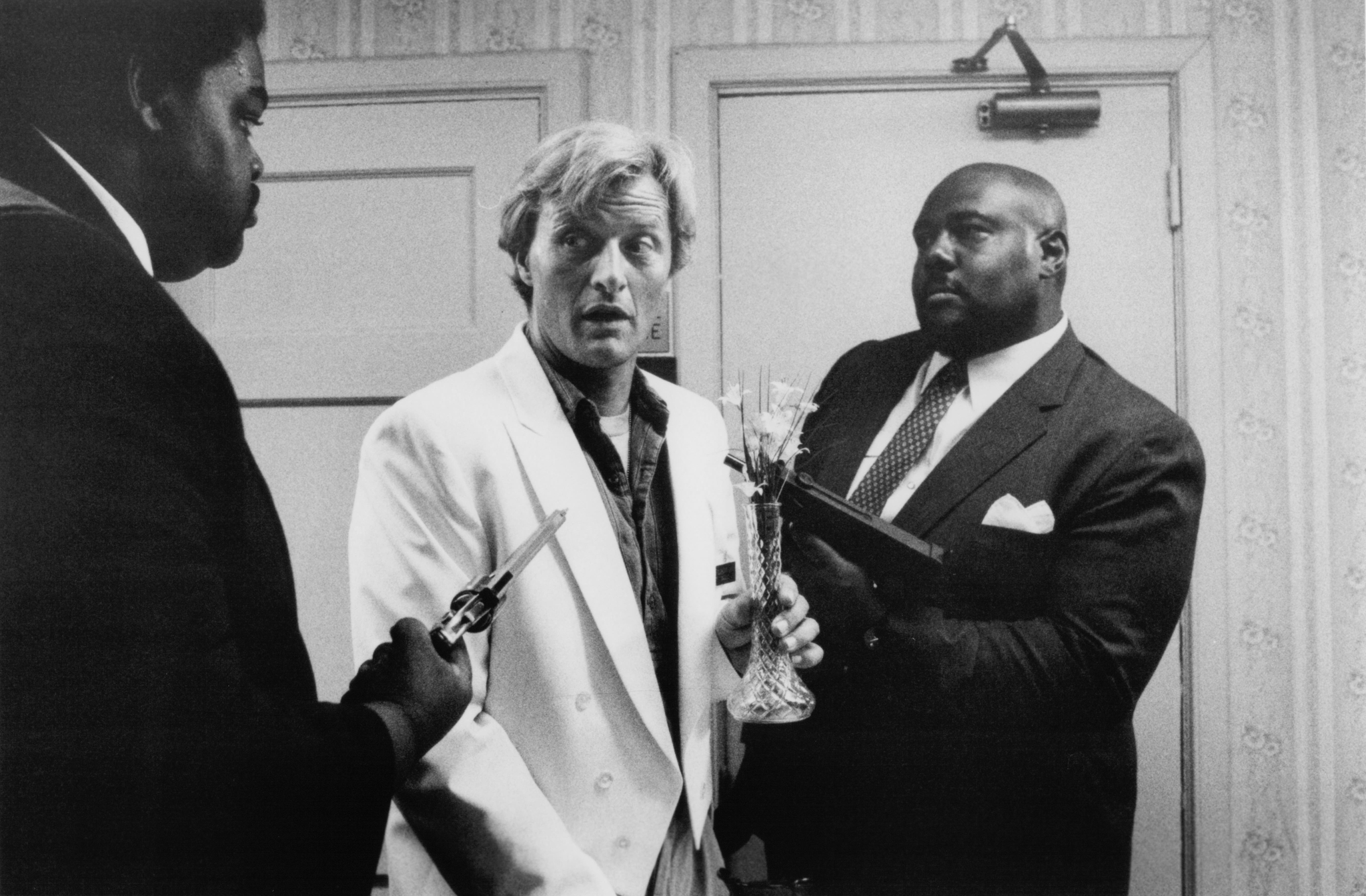 Rutger Hauer, Ernest Mack, and Linwood Walker in Blind Fury (1989)