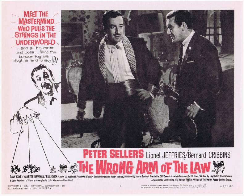 Peter Sellers and Bernard Cribbins in The Wrong Arm of the Law (1963)