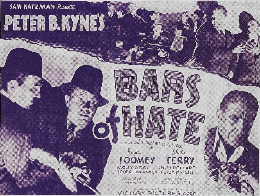 Gordon Griffith, 'Snub' Pollard, Regis Toomey, and Robert Warwick in Bars of Hate (1935)