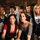 Still of Devon Bostick, Martha MacIsaac, Brandon Jay McLaren, Kyle Schmid, Tim Doiron, April Mullen and Brittany Allen in Dead Before Dawn 3D. www.deadbeforedawn3d.com