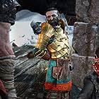 Adam J. Harrington, Christopher Judge, and Sunny Suljic in God of War (2018)