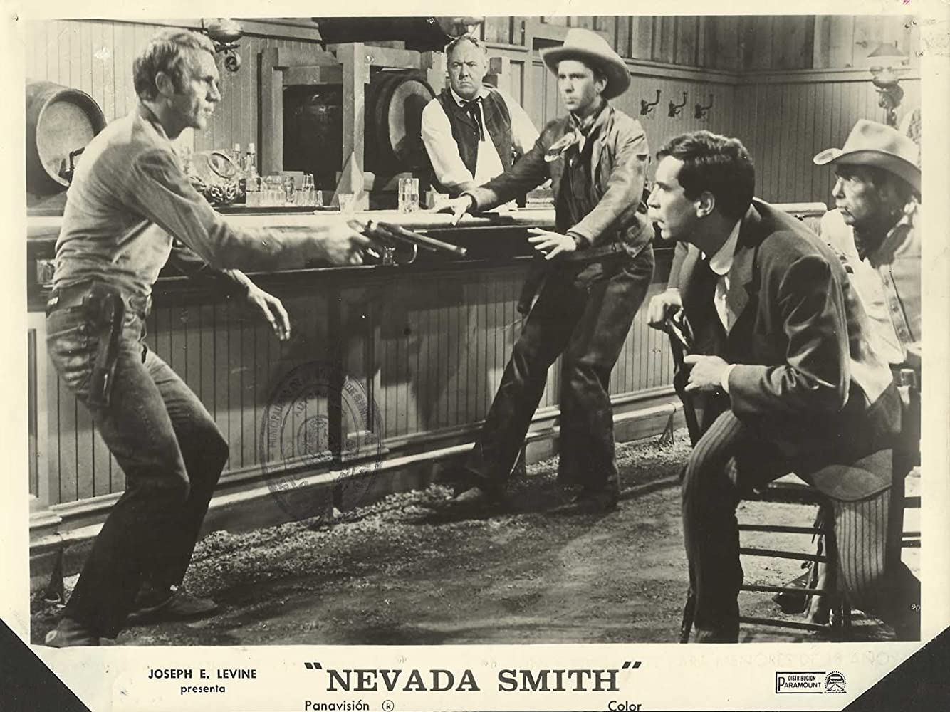 Steve McQueen and Martin Landau in Nevada Smith (1966)