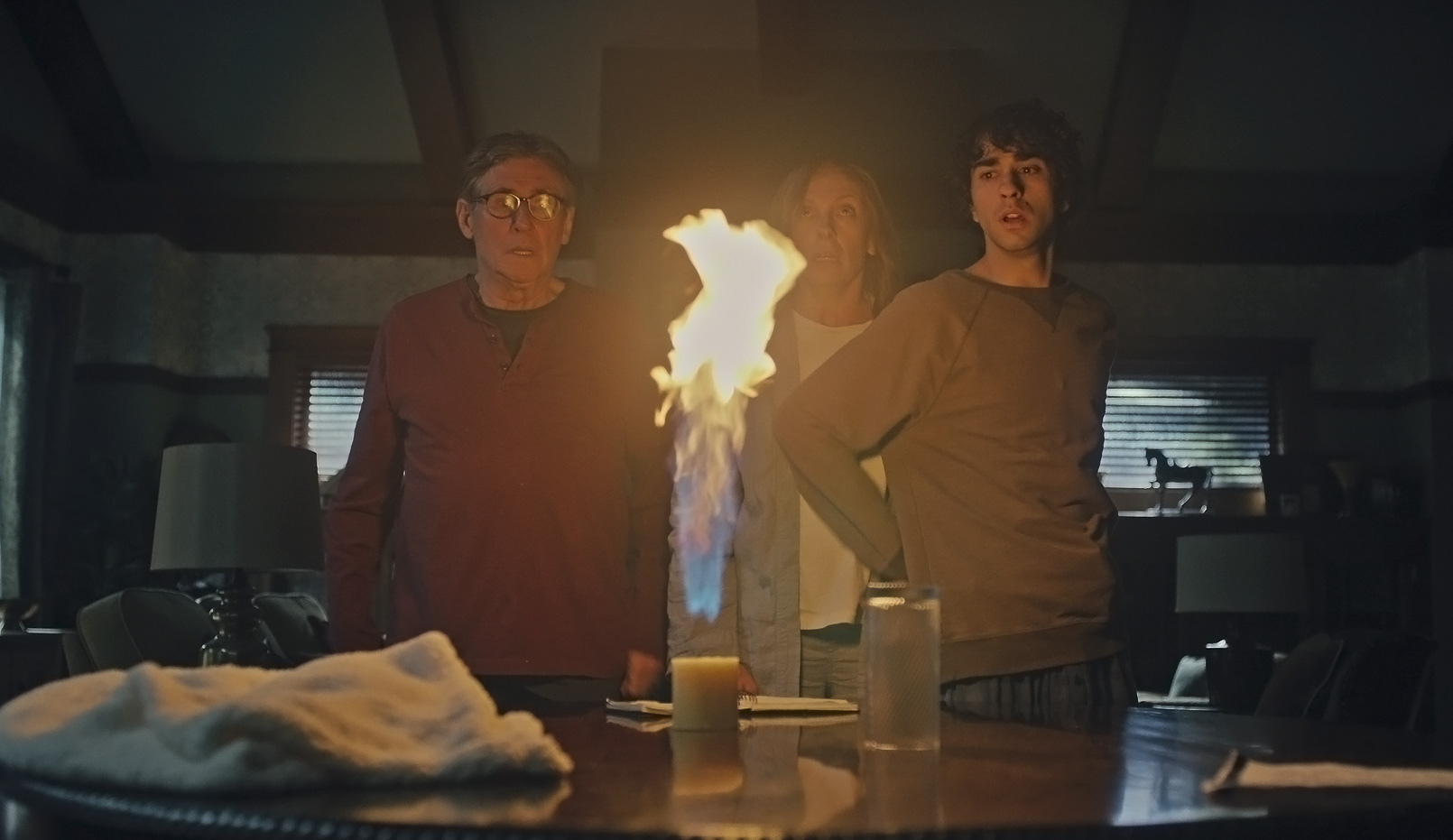 Gabriel Byrne, Toni Collette, and Alex Wolff in Hereditary (2018)