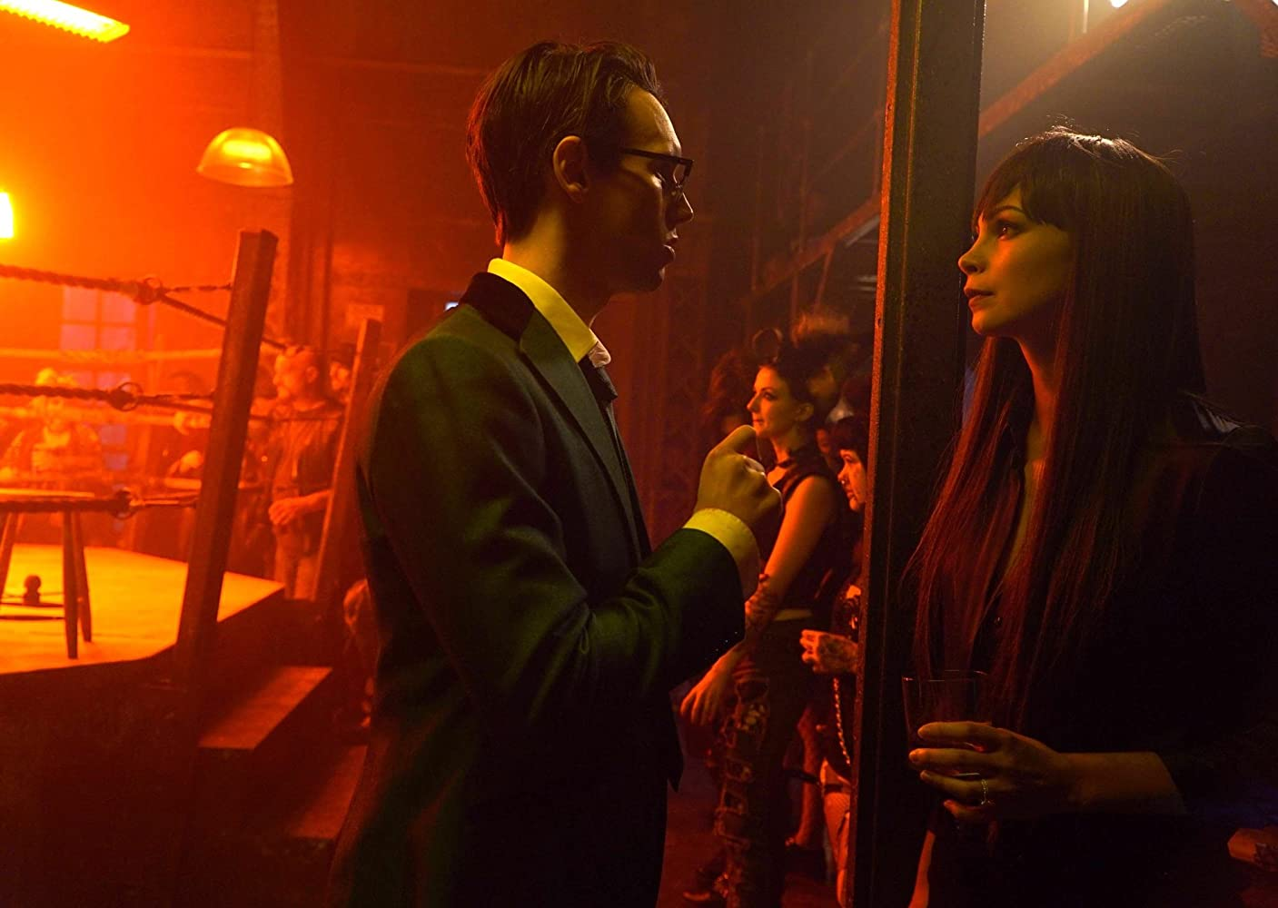 Morena Baccarin and Cory Michael Smith in Gotham (2014)