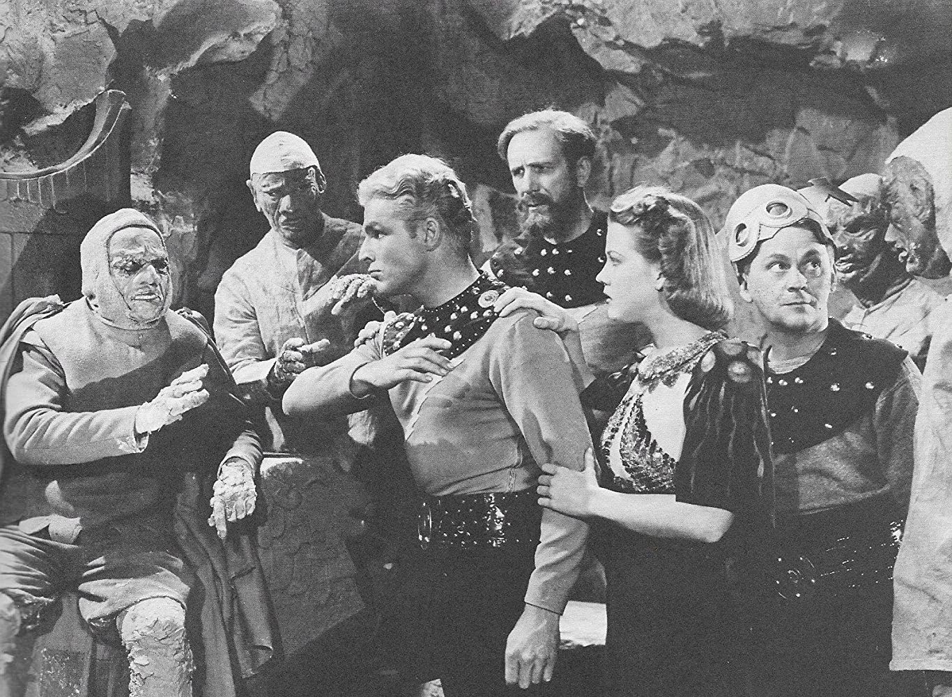 Buster Crabbe, Donald Kerr, Jean Rogers, Frank Shannon, and C. Montague Shaw in Flash Gordon's Trip to Mars (1938)
