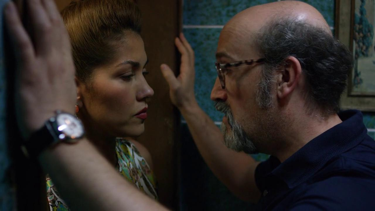 Javier Cámara and Lina Castrillón in Narcos (2015)