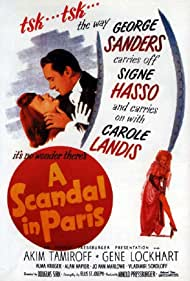 George Sanders, Signe Hasso, and Carole Landis in A Scandal in Paris (1946)