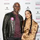 Lance Reddick and Tessa Thompson at an event for Little Woods (2018)