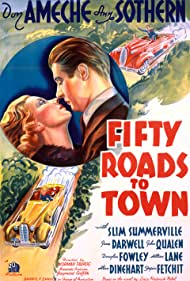 Don Ameche and Ann Sothern in Fifty Roads to Town (1937)