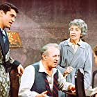 George Segal, Lee J. Cobb, Mildred Dunnock, and James Farentino in Death of a Salesman (1966)