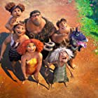 Nicolas Cage, Catherine Keener, Cloris Leachman, Clark Duke, Kailey Crawford, and Emma Stone in The Croods: A New Age (2020)