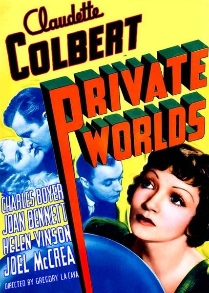 Charles Boyer, Claudette Colbert, Joel McCrea, and Helen Vinson in Private Worlds (1935)