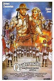 Sharon Stone, Richard Chamberlain, Cassandra Peterson, Fidelis Cheza, Stuart Goakes, and Henry Silva in Allan Quatermain and the Lost City of Gold (1986)