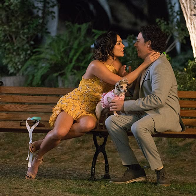 Vanessa Hudgens and Jon Bass in Dog Days (2018)