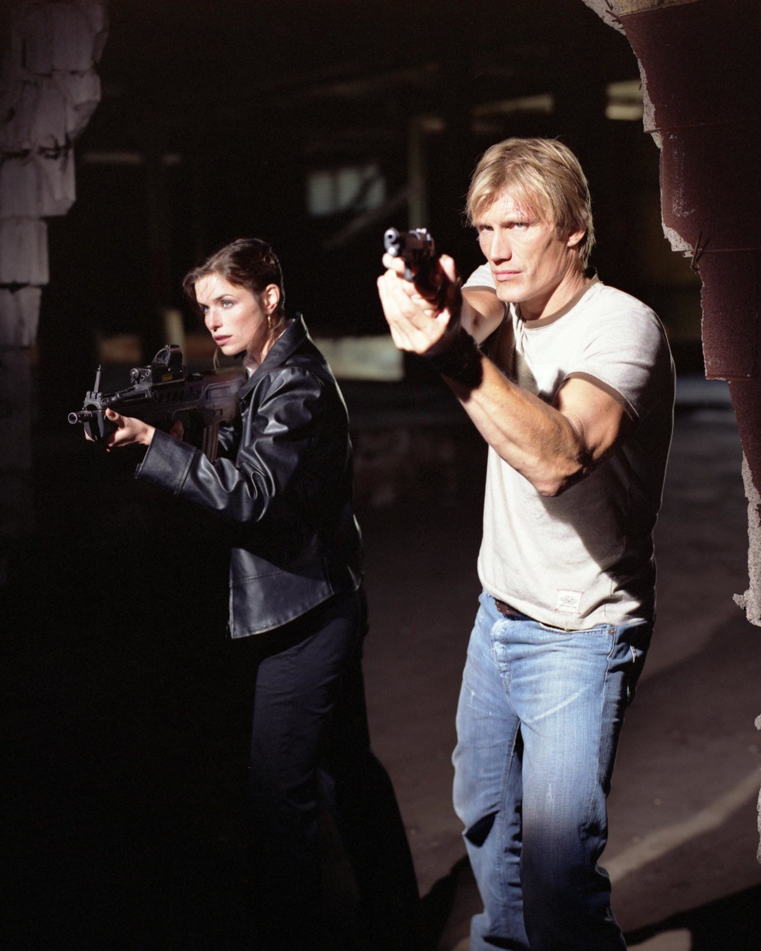 Dolph Lundgren and Polly Shannon in Direct Action (2004)